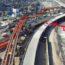 Instalan superestructura de más de 200 metros sobre vía de Evitamiento